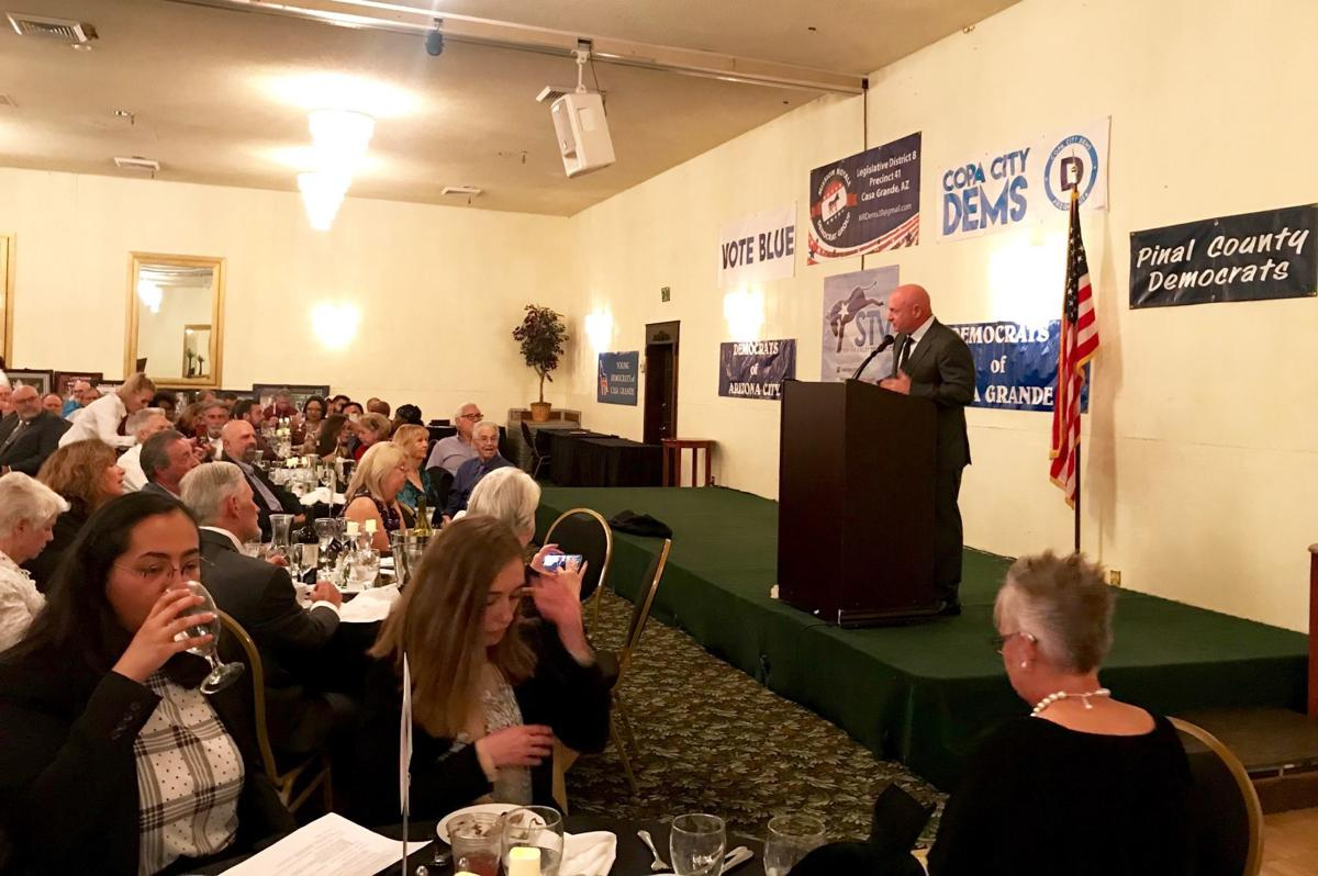 Mark Kelly speaks to Pinal County Democrats