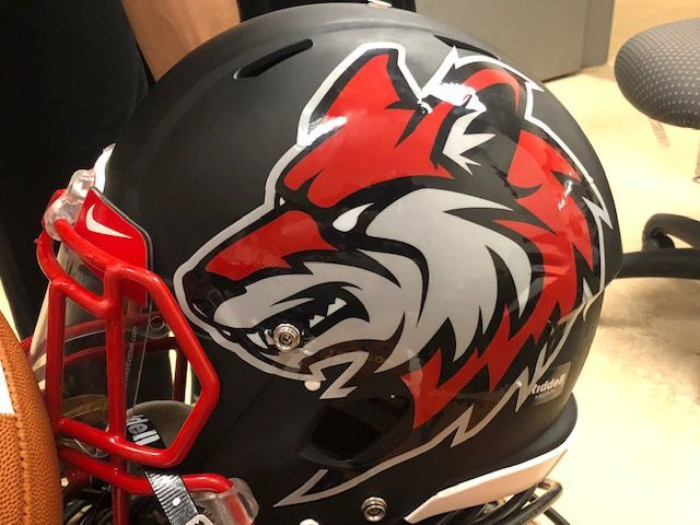 Combs football helmet