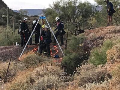 Teen Rescued from Mine Shaft