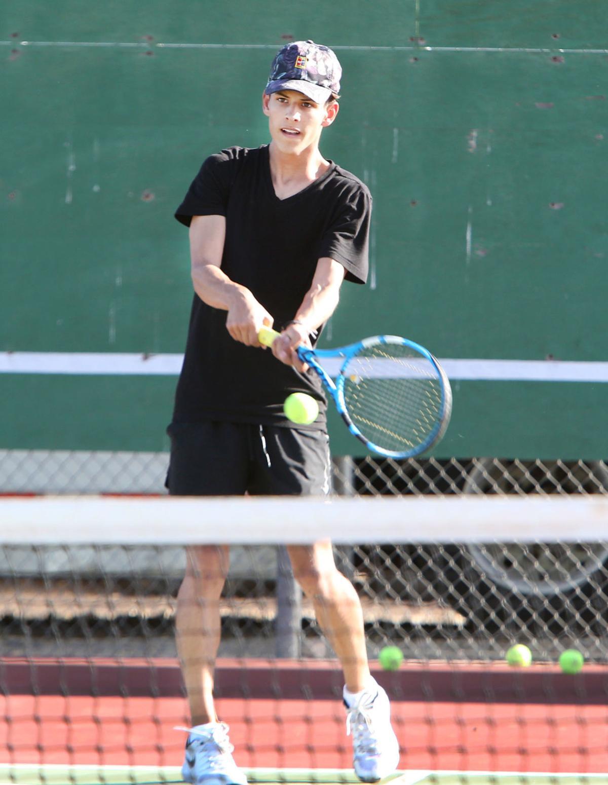 CGUHS tennis Caden Mace