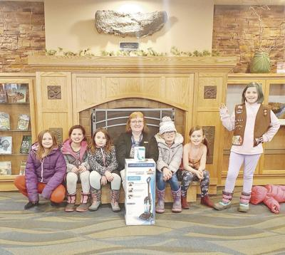 Library cleans up, with help from Girl Scouts