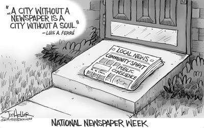 A city without a newspaper is a city without a soul
