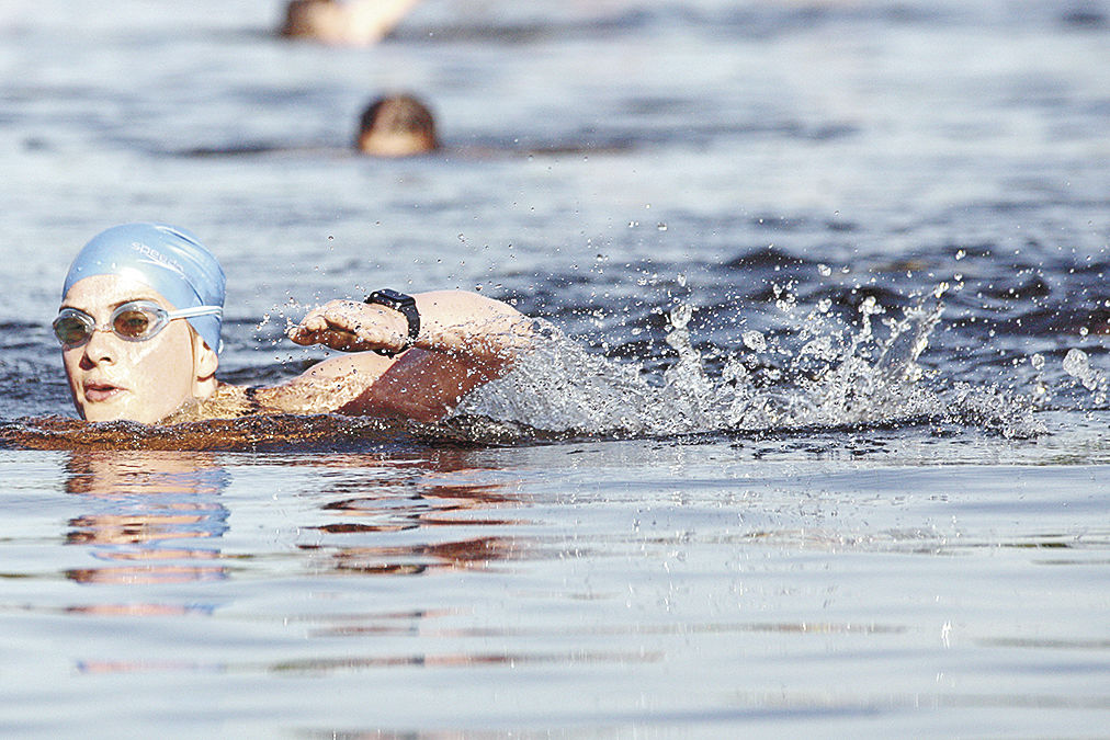 Freedom Fest triathletes take to the water