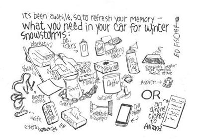 What you need in your car for winter snowstorms