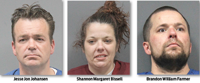 Three arrested after drugs, burglary tools found