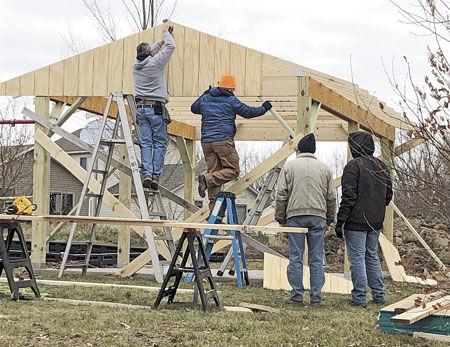 Boy Scout volunteers help make park complete