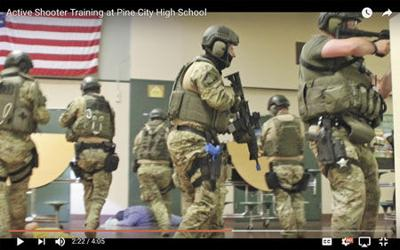 Find out more about Pine City schools' active shooter training exercise