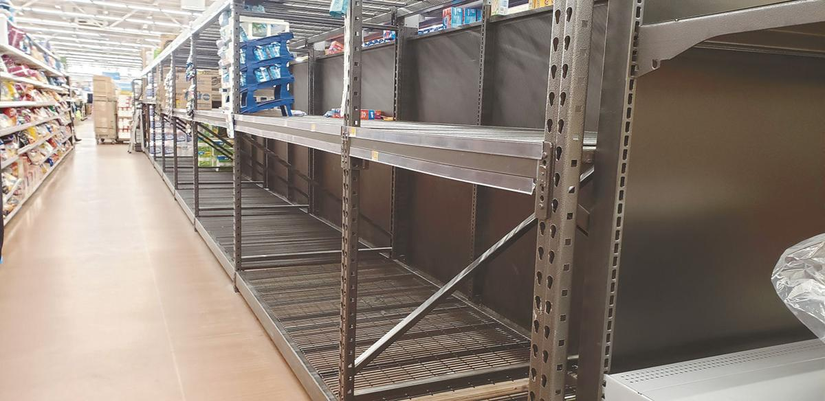Hoarding creates empty shelves
