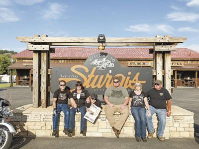 Enjoying the good times together in Sturgis