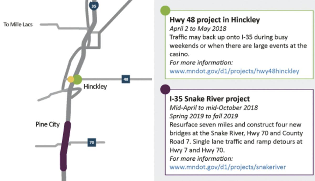 I-35 ramps closed at Hillside Ave./CR 7 for 2 weeks