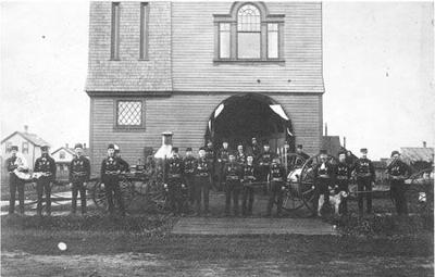 The Hinckley Fire Department in 1894.