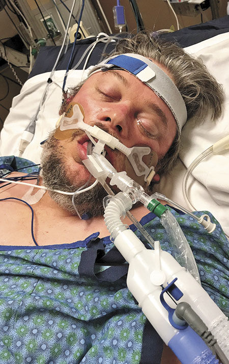 Flu puts Pine City man in a fight for his life