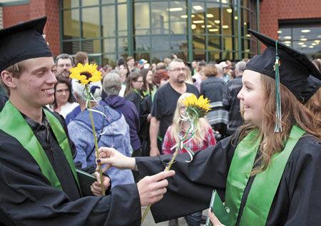 Sunshine and sunflowers brighten PCHS graduation
