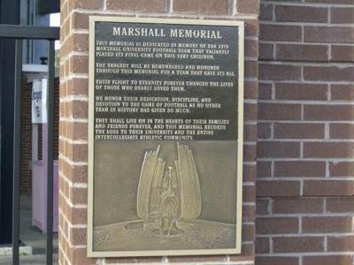 Marshall memorial plaque