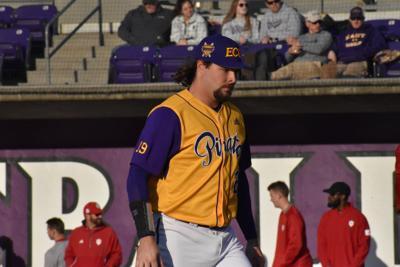 Alec Burleson against Indiana University - 2020