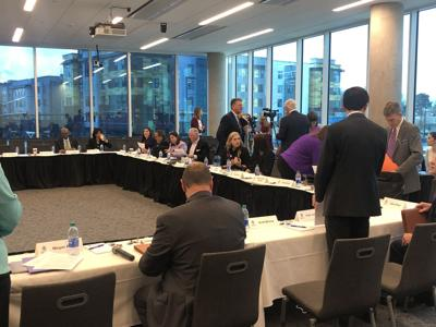 The East Carolina University Chancellor Search Committee met to speak about selecting several candidates on Tuesday.