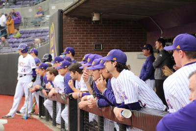 ECU Baseball in the dugout - 2020