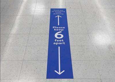 COVID floor sign