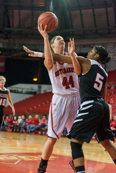 Lisa Loeffler (44) of the USD Coyotes
