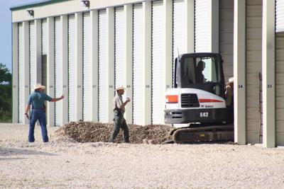 Excavation at storage facility