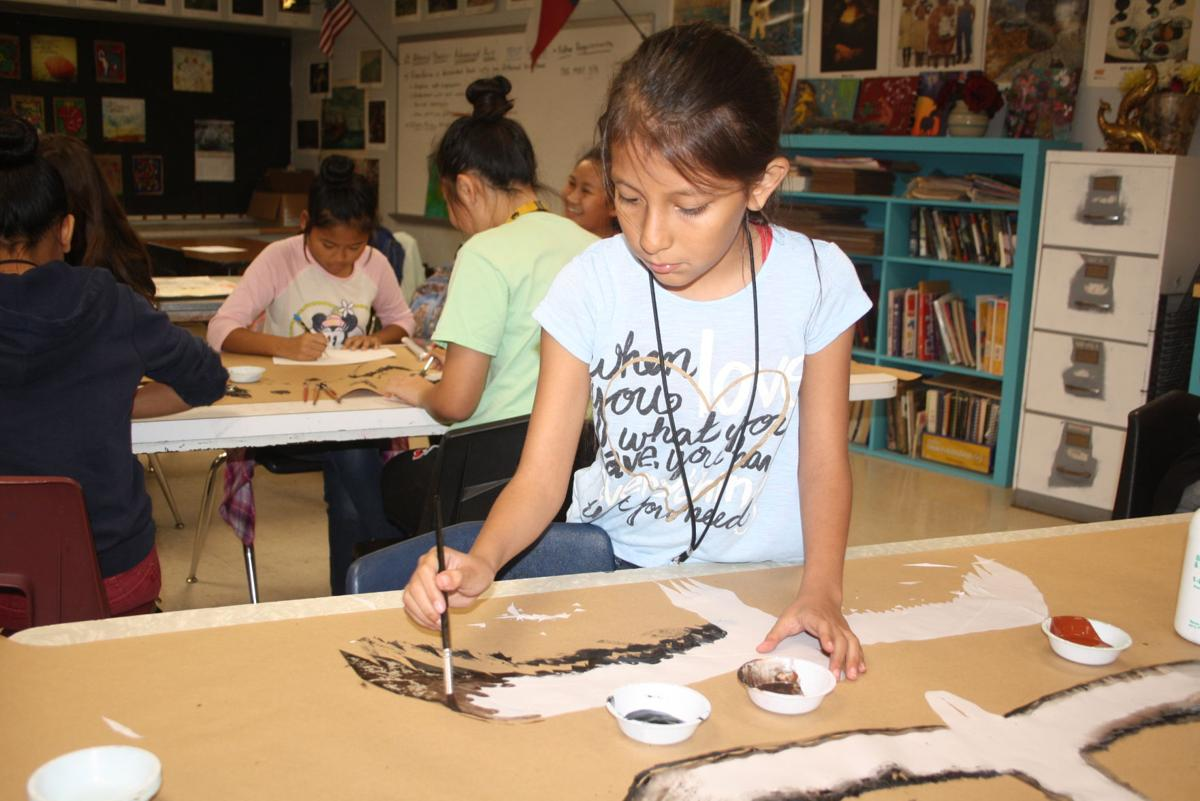 painted letters travis students to participate in palacios birdfest 23886