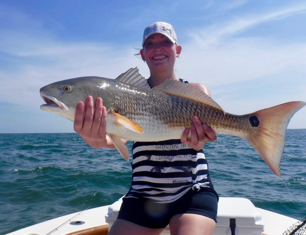 Jenny Connelly with a large red drum