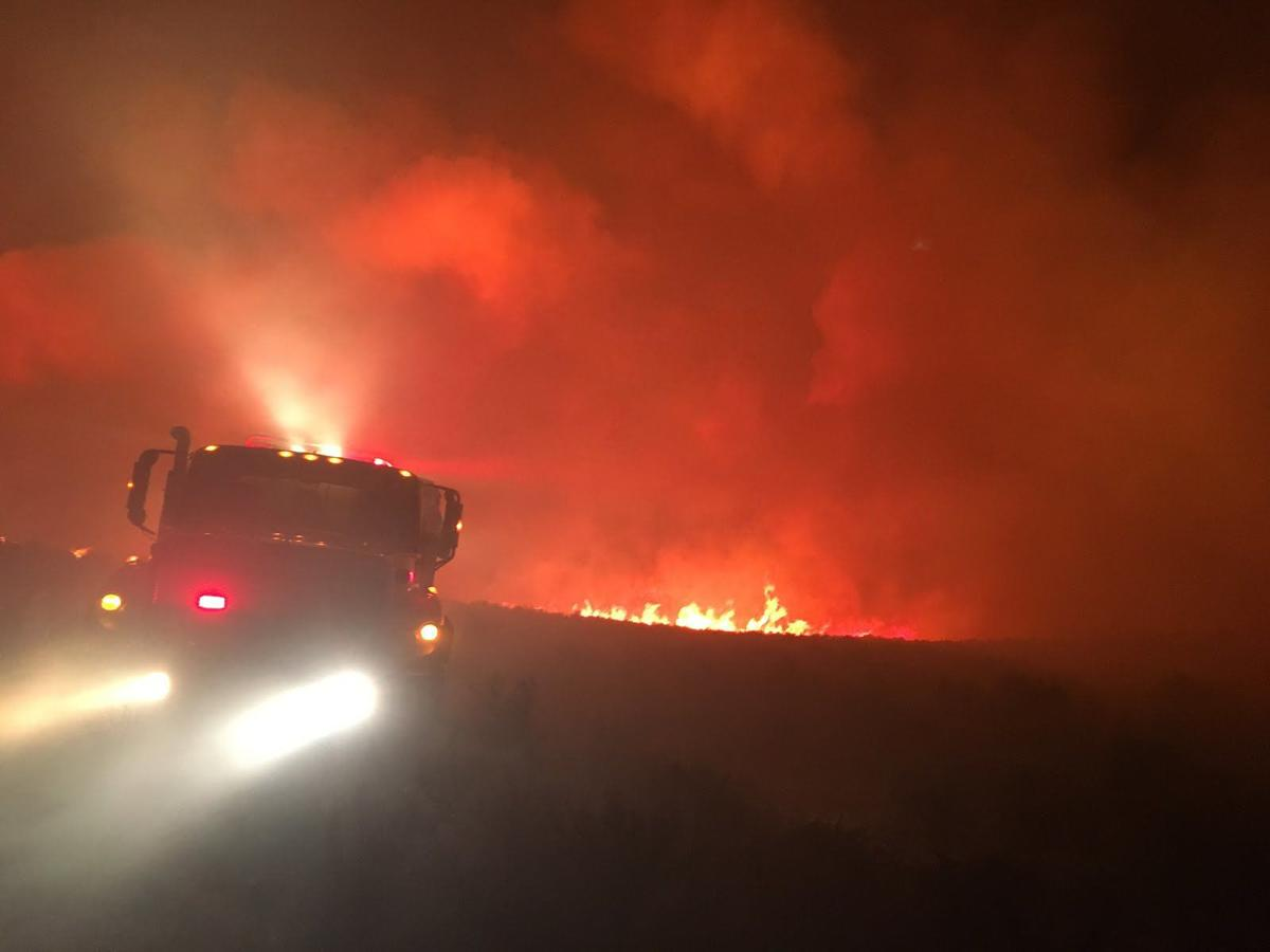 Thousands of acres closed as firefighters battle blaze