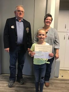 Jacobs awarded as Roberts Lions essay contest winner