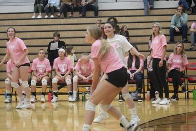 Russets clip Broncos in volleyball