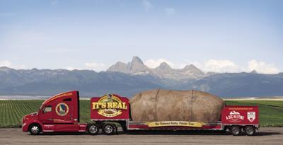 Big Potato Truck with Teton Mountains