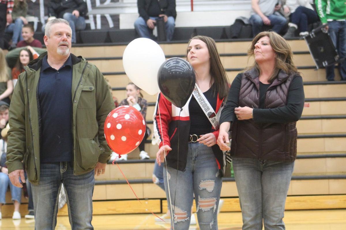 Shelley cheer senior night