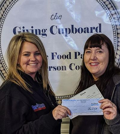 Giving cupboard receives more than $30,000 in grants and donations