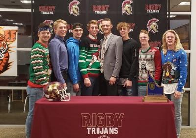 Keegan Thompson at Rigby signing day