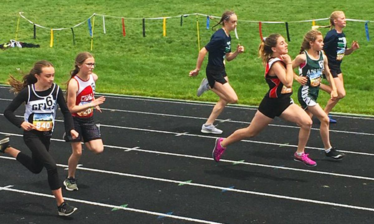 3 Challis girls place at big track meet