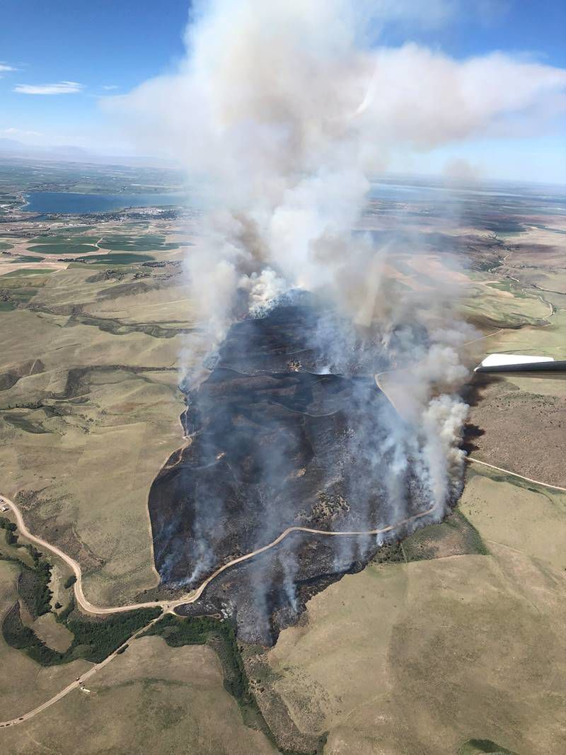 Cold Creek Fire (aerial)