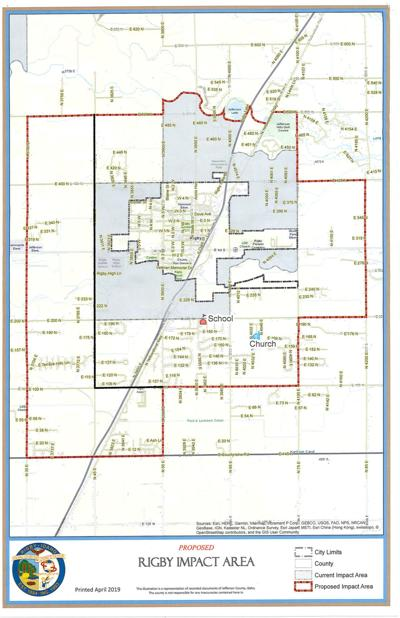 Commissioners adopt reduced area of impact