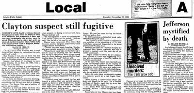 Post Register Clayton murder archive