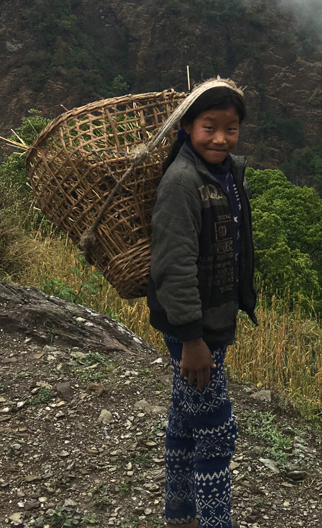 Girl and basket