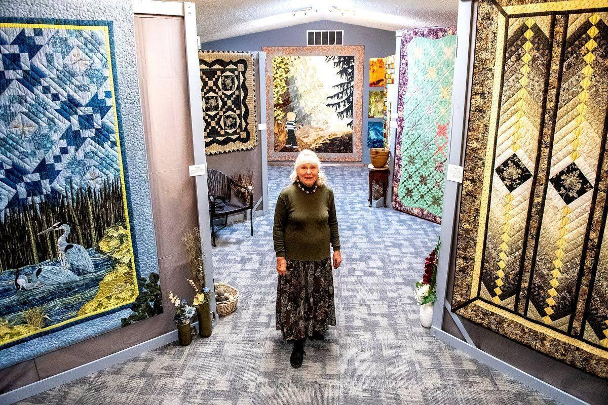 Karen Hagen's quilts are works of art on display at Genesee's old Masonic Lodge