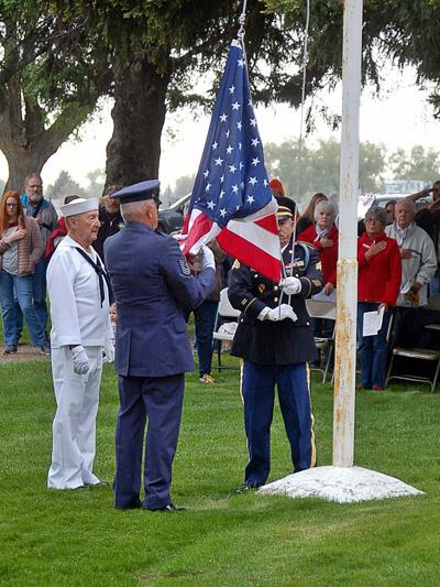 SCENES FROM MEMORIAL DAY SERVICE