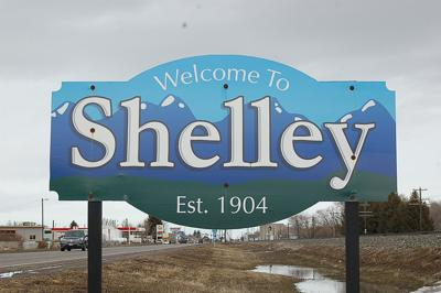 Shelley city sign