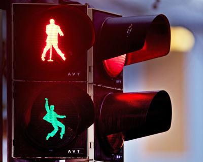 APTOPIX Germany Traffic Light Elvis