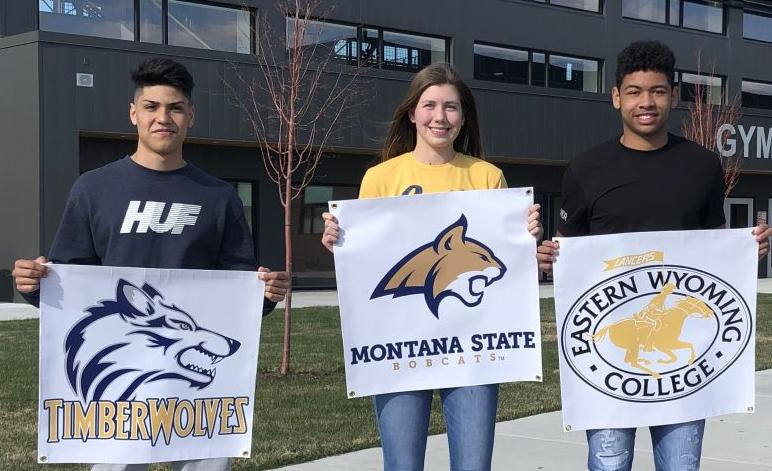 Thunder Ridge trio signs with colleges