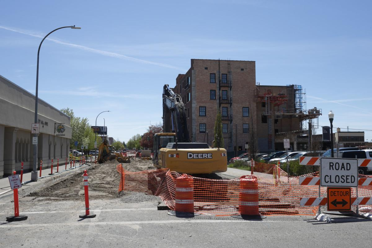 downtown road construction