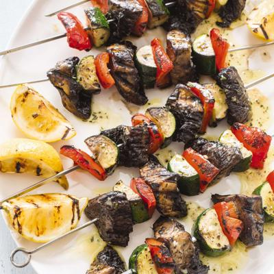 Food Column ATK Grilled Vegetable Kebabs