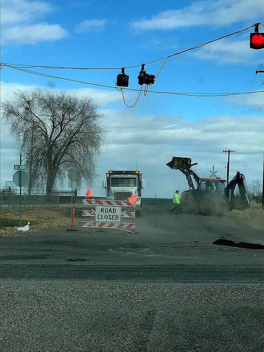 Dubois railroad crossing construction complete