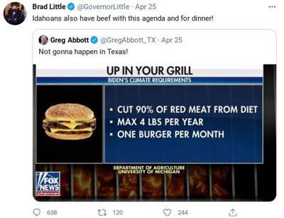 Gov. Brad Little's tweet