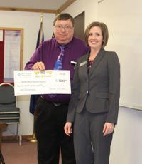 Snake River receives check from Young