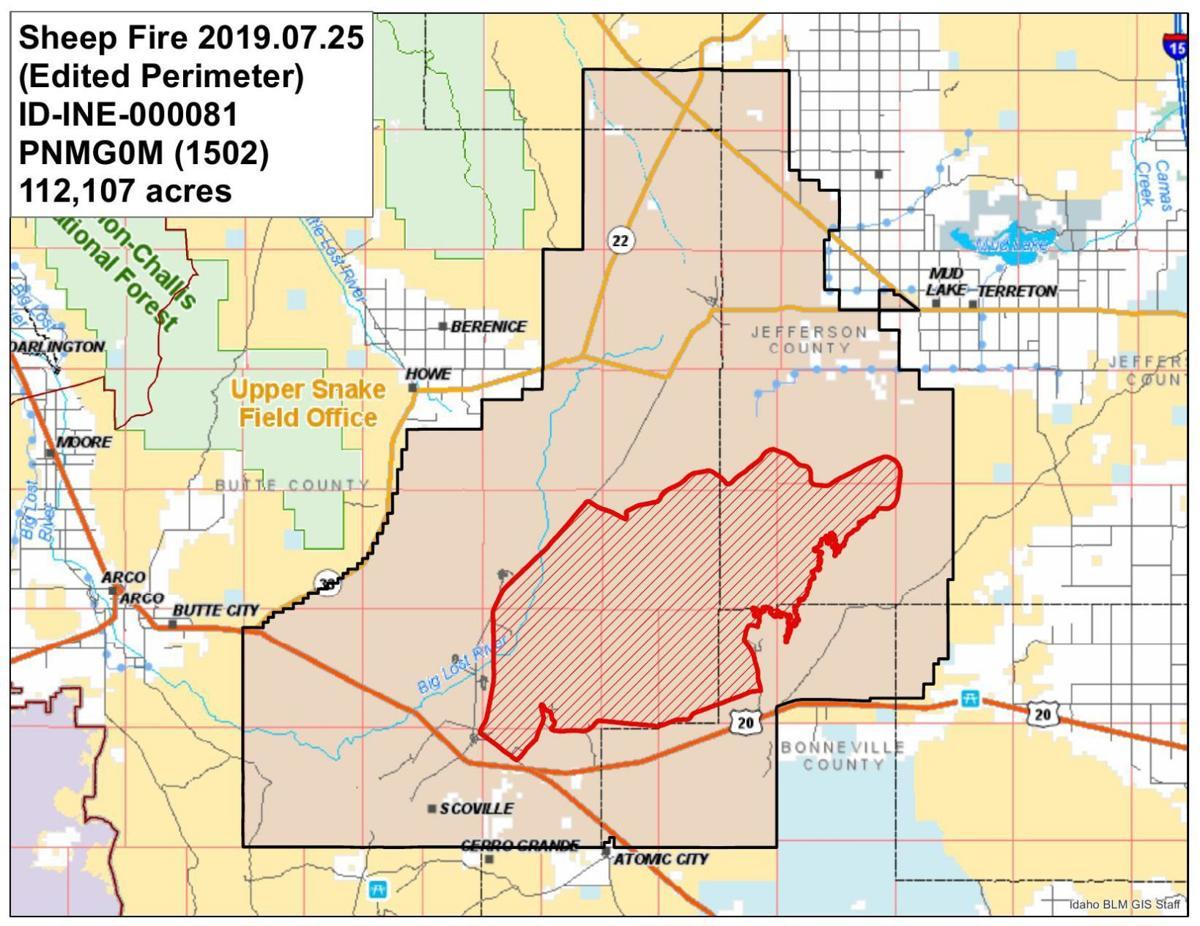 Sheep Fire map