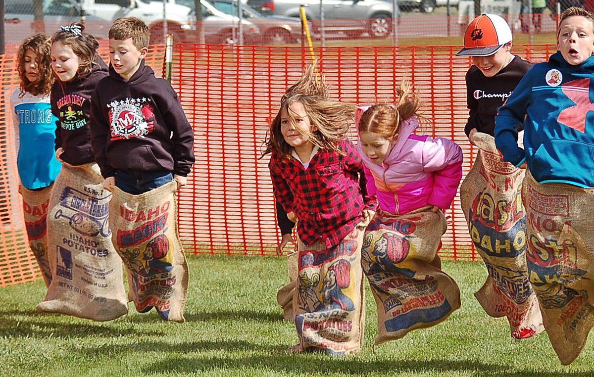 Spud Day sack race